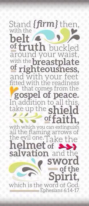 Ephesians 6:14-17