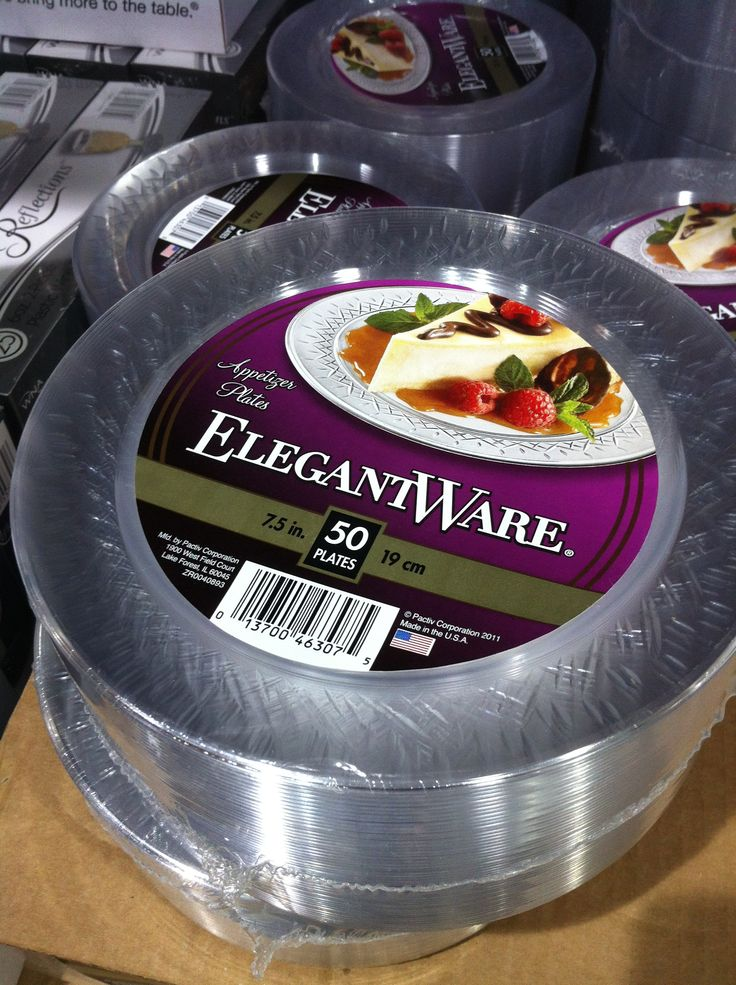 Costco 50 Clear Plastic Etizer Dessert Plates 7 49