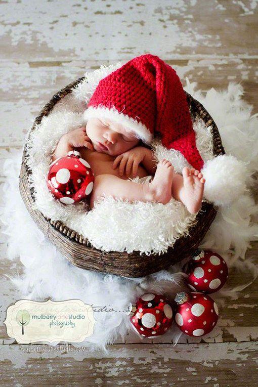 30 adorables images pour immortaliser le premier Noël de bébé