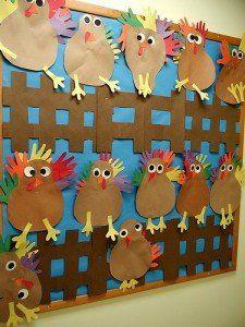 Chicken Display, classroom displays, class display, animal, chicken, bird, farm, hand print, Early Years (EYFS), KS1 & KS2 Primary Teaching Resources