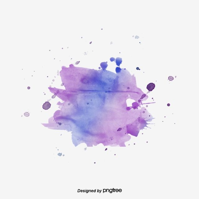 Purple Watercolor Splash Element Spatter Watercolor Png