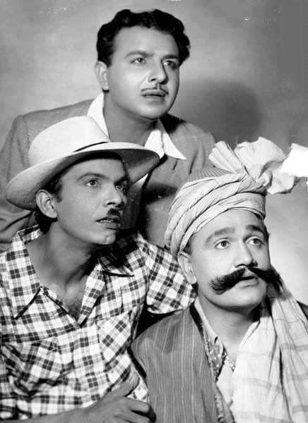 (1955) Karan Dewan, Johny Walker and Om Prakash, in a still from film 'Musafirkhana'. Film History Pics (@FilmHistoryPic) on Twitter
