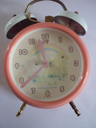 Vintage 1985 Collectable MY LITTLE PONY Pink Bell Alarm Clock working | eBay