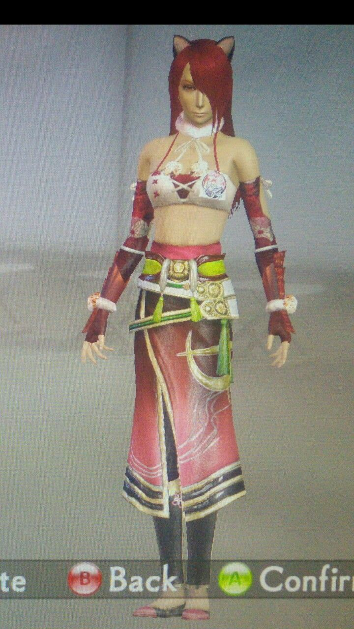 """Lucy - Elfen Lied ~ in """"Custom Character Mode"""" created by myself on PC version game """"Samurai Warriors 4-II"""""""