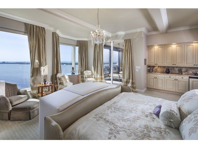 Naples Hot Property Blog Posh Master Bedroom Lush Luxe Built In Kitchenette Room With A