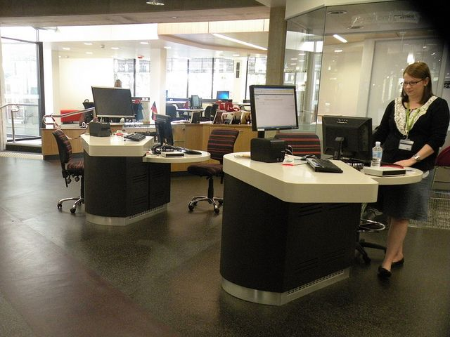 Kelvin Grove Library - reference desks  by State Library of NSW Public Library Services, via Flickr