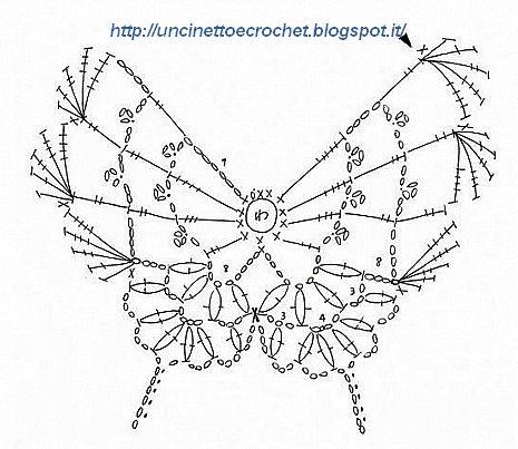 schema farfalla uncinetto