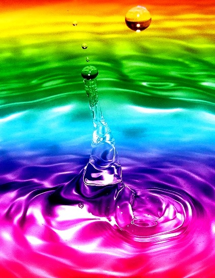 rainbow color water splash 39 de l 39 arc en ciel