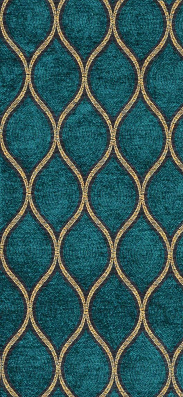 Iman Malta Peacock Fabric #teal #gold