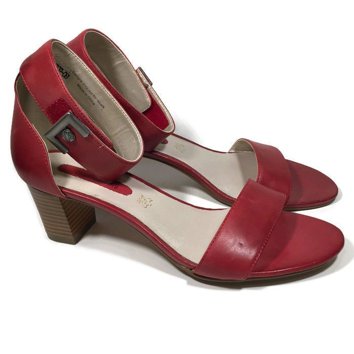 Dalina RED Leather Ankle Strap Sandal for Women by Blondo | eBay