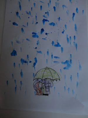 Regen druppels verven met de peuters