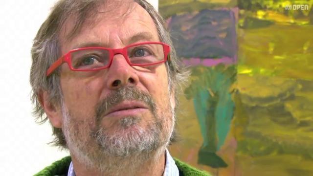 Artist Idris Murphy in his studio