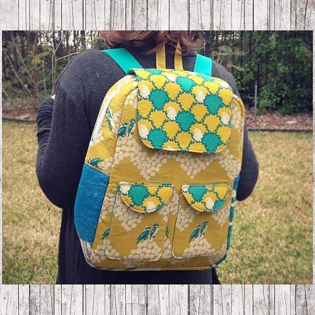Edelweiss Backpack in Echino!  So cute! Sew Sweetness