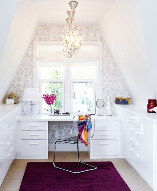 Great idea for an attic craft room.