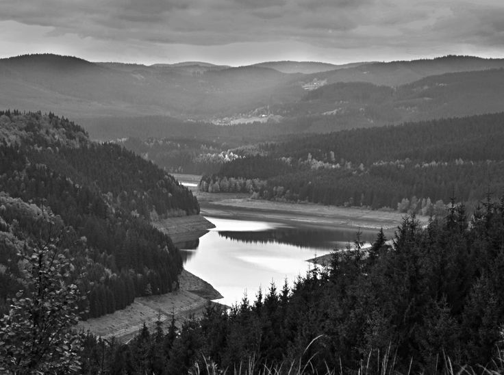Beautiful black and white photography, landscape, Beskydy mountain
