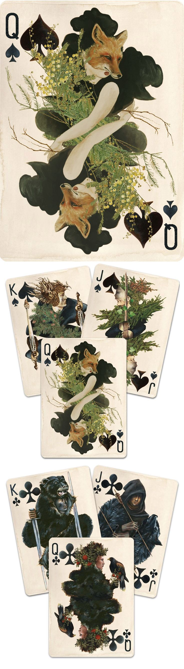 Custom Playing Cards by Uusi https://www.kickstarter.com/projects/1244376122/pagan-custom-playing-cards