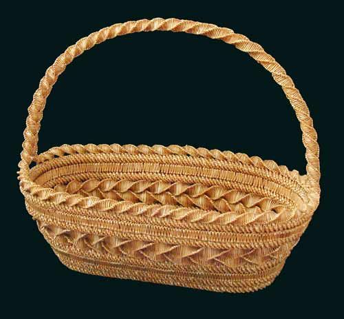 Belarusian Straw Basket Made A Bit Like Hats First You Weave Or Plaid