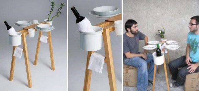 Mesa pequeña para espacios mínimos