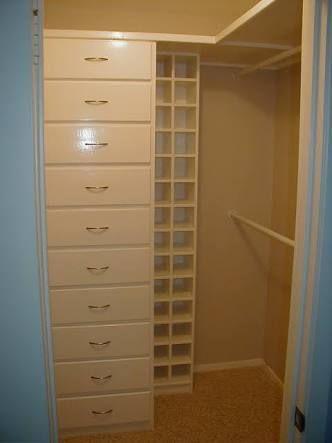small walk in closet dimensions - Google Search