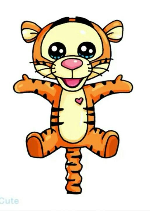 Картинки для срисовки тигренка