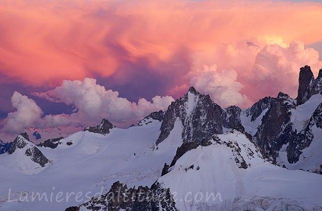 Nuages orageux sur la Tour Ronde, Chamonix