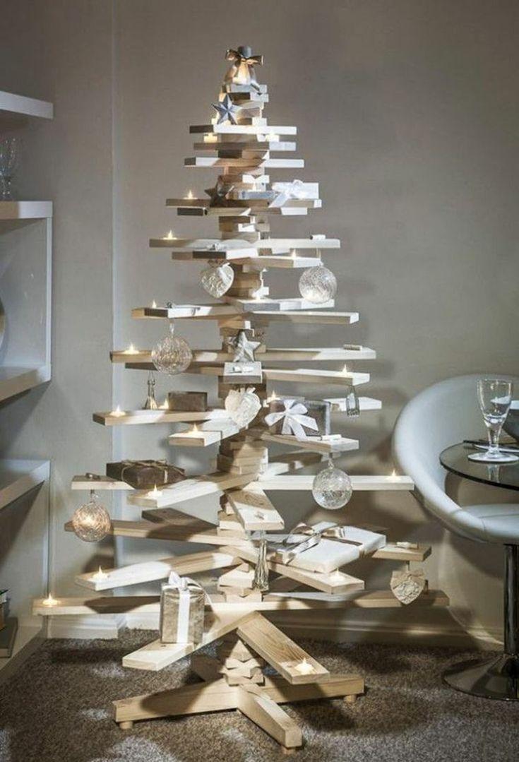 décoration d'arbre de Noël artificiel en bois