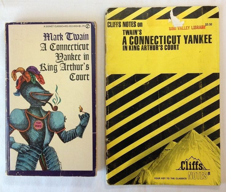 A Connecticut Yankee in King Arthur's Court by Mark Twain with Cliffs Notes - PB