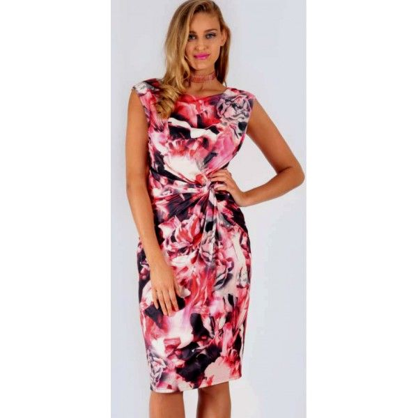 Helean Vibrant Floral Day Dress