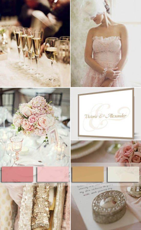 7 hochzeit einladungen schlicht beige guenstig online Trendfarbe vintage hochzeit Hochzeit Trendfarbe 2014