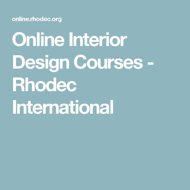 Online Interior Design Courses