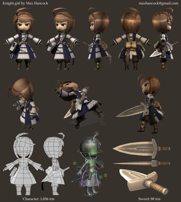 knight girl render sheet by ~kouotsu on deviantART