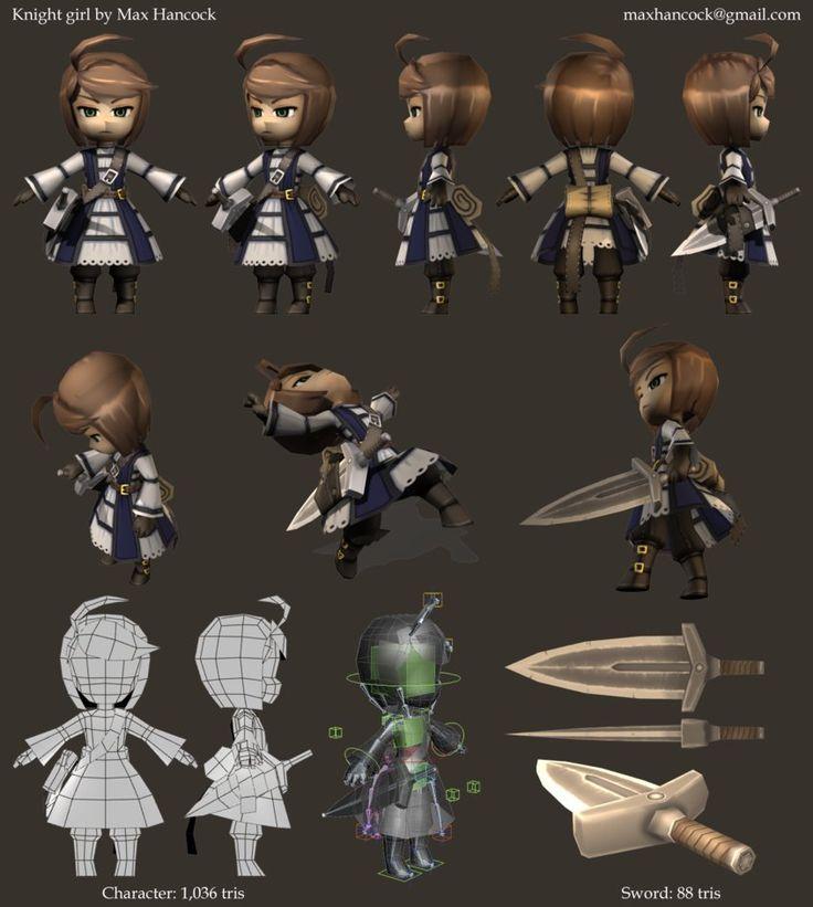knight girl render sheet by kouotsu