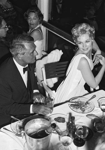 Cary Grant and Kim Novak - Cannes Film Festival - 1959