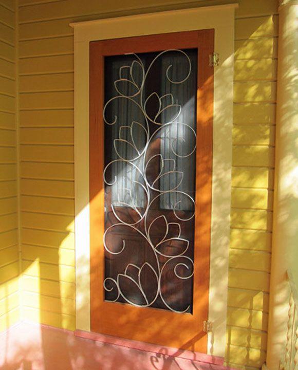 Custom screen doors -- Austin designer Susan Wallace. http://www.susanwallace.net/