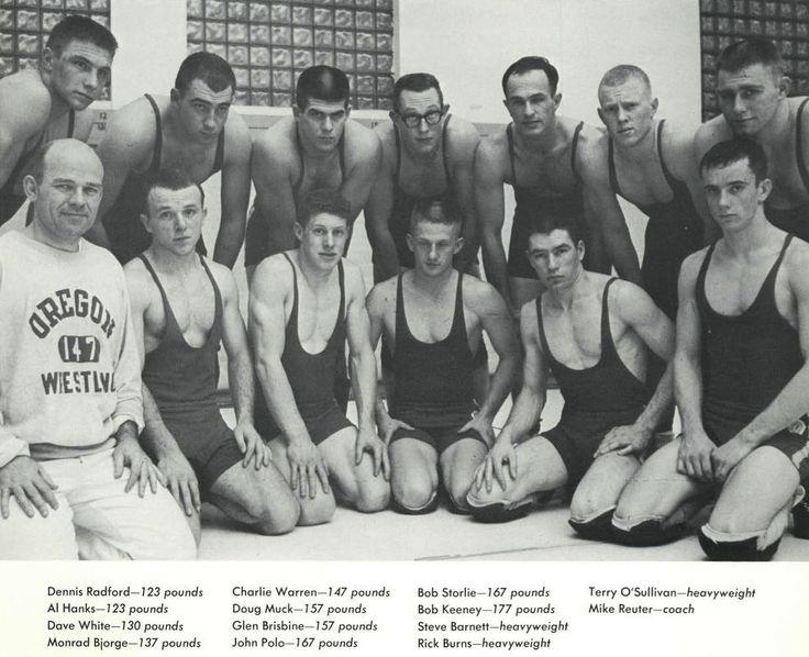196263 Oregon wrestling team. From the 1963 Oregana