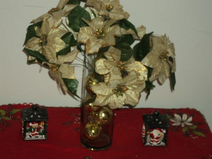 juego de flores navidad para mesa