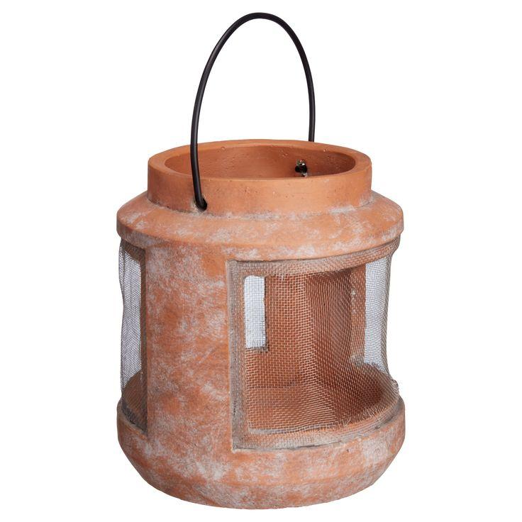 Sfeervolle lantaarn voor buiten. Kleur: terra. Hoogte: 19 cm. #KwantumLente #tuin #lantaarn