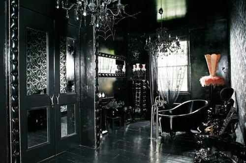 17 best images about the victorian gothic bed bath on for Gothic bathroom ideas