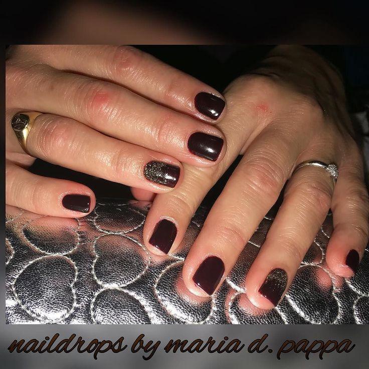#manicure #brownnails #glitternails