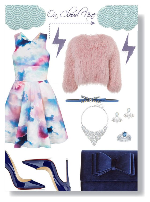 """On Cloud Nine"" by ghadalog ❤ liked on Polyvore featuring Yumi, INC International Concepts, Argento Antico, Swarovski, Disney, Charlotte Simone, Christian Louboutin, partydress and clouds"