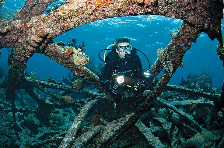 Around 300 — that's how many shipwrecks lie in the waters off Bermuda. Natural causes sank the majority, so they're scattered widely. Downed boats are the main reason to get wet in this British territory, but it's not the only one: You'll also find caves, tunnels and reefs.