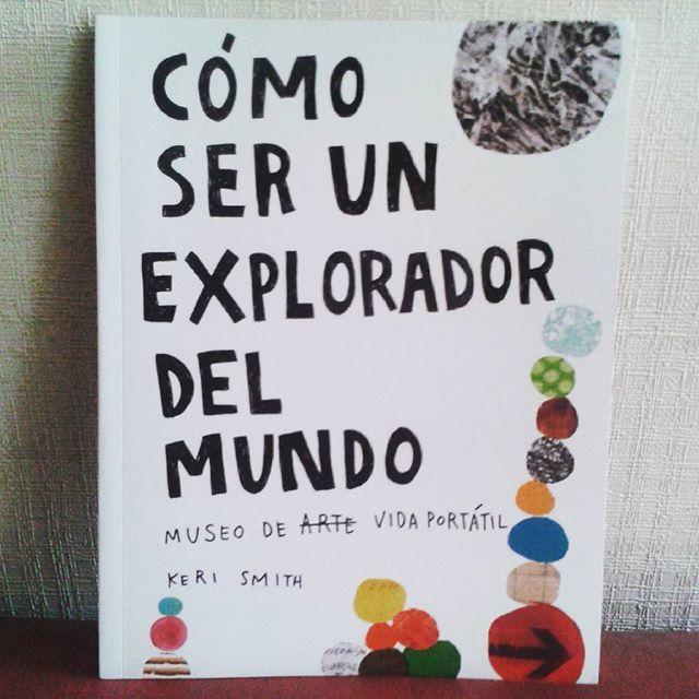 Este libro es maravilloso. De la gran Keri Smith. Para ademas ejercitar la exploración en mis talleres  Cariños miles @fhabiaunavez !! #creativity #art #TallerIlustracion