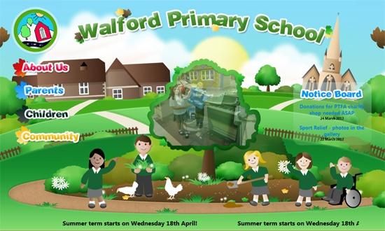 Visit http://www.walfordprimaryschool.co.uk/ to see how we have used animation in their school website's design