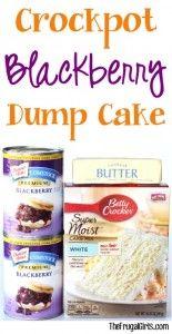 Crockpot Blackberry Dump Cake Recipe at TheFrugalGirls.com