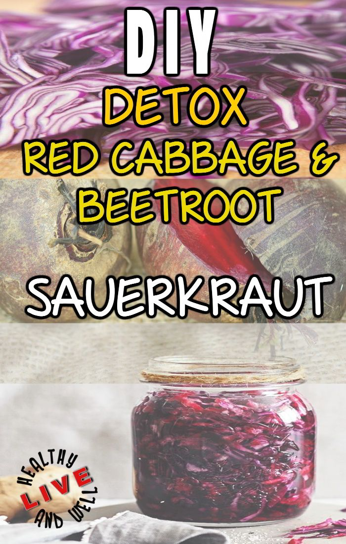 This beet and red cabbage kraut provide probiotics to help your digestion so you feel great during a detox.