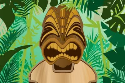 Nature - Jungle Tiki Vector Background