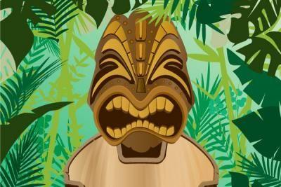 Nature - Jungle Tiki Vector Background