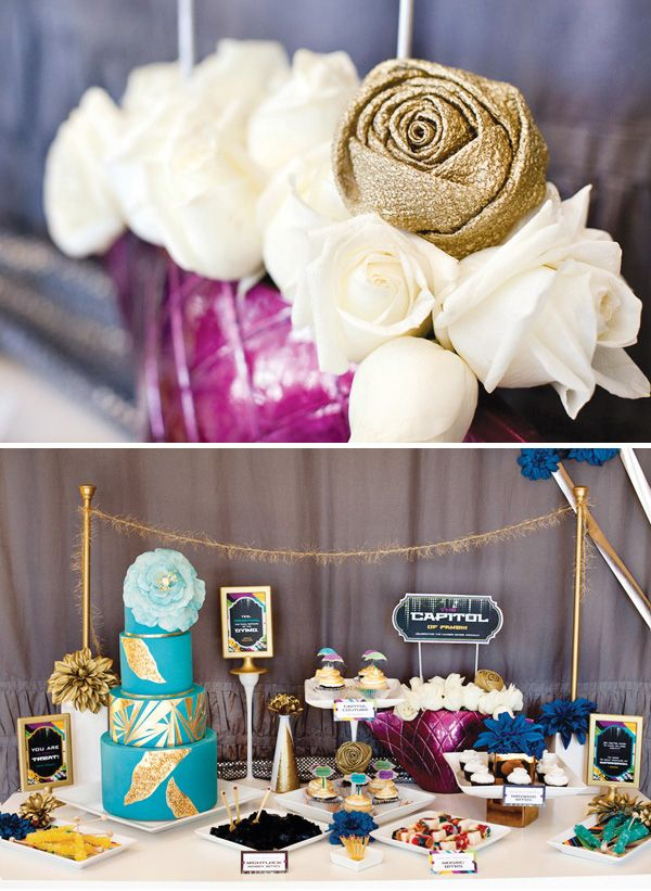 Hunger Games Party  Capitol Inspired  Dessert Table // Hostess with the . & 114 best hunger games party images on Pinterest | Hunger games party ...