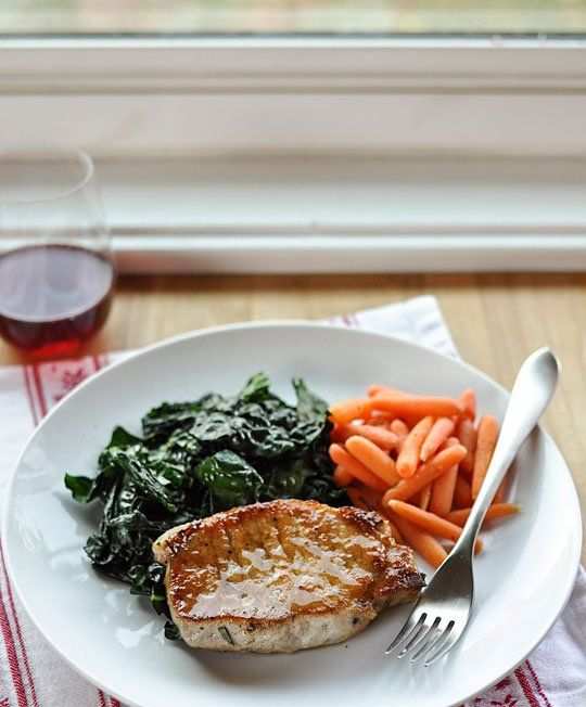 Dinner-for-Two Recipe: Sage-Brined Pork Chops with Brown Sugar Glaze ...