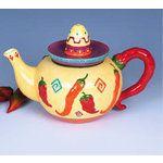 Chili Pepper Decor | eBay Image 1 CHILI PEPPER southwestern kitchen decor Teapot Tea pot